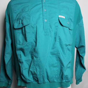 Members Only 2XL Long Sleeve Qtr Btn Down Pullover